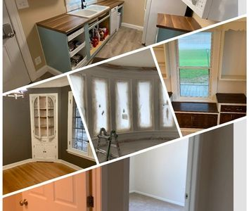 Kitchen cabinet painting trim painting molding painting refinishing windows doors staircase stairs