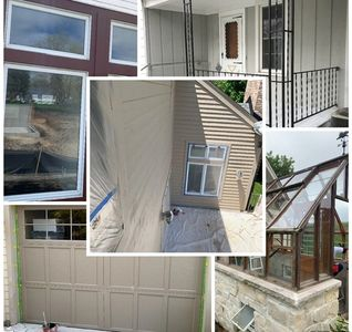 Exterior painting siding windows decks home services commercial painting residential painting garage