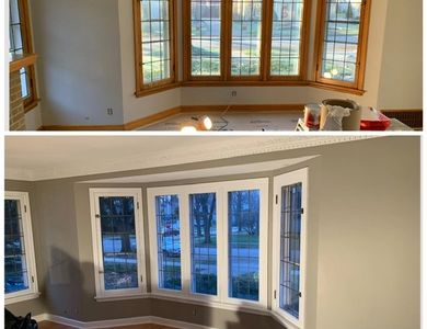 Trim painting molding painting colors paint house remodeling home services painters interior window