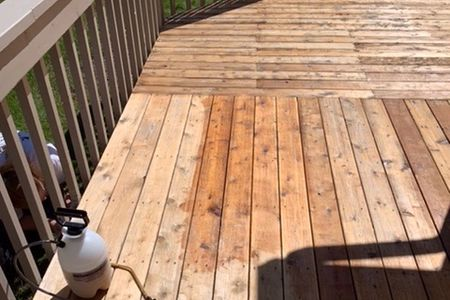 Deck refinishing deck painting deck staining sanding sealing railings deck boards cedar  exterior