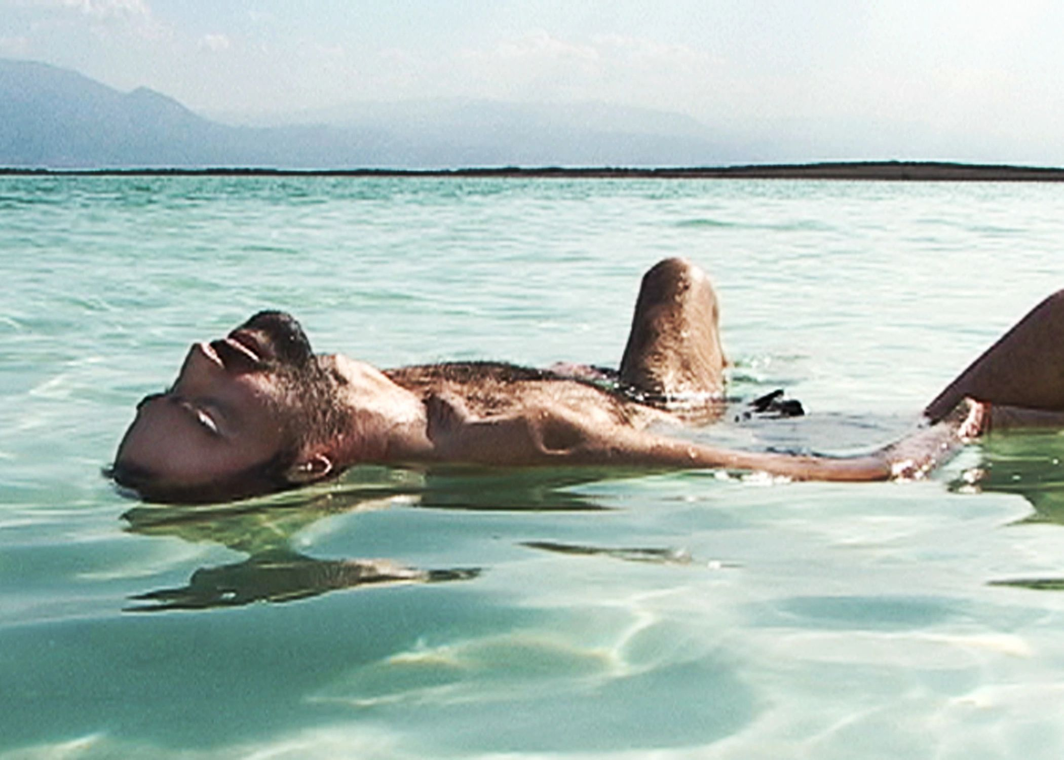 Ben Byer in the Dead Sea