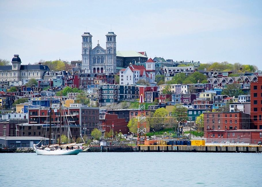 Picture of the city of st. John's From the harbour view.