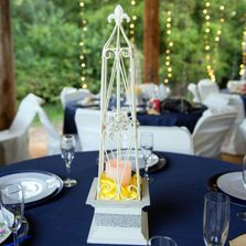 Choice of centerpieces for tables at events, weddings, reception.