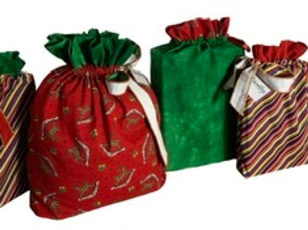 Fabric gift bag set of four