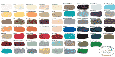 Choose from a rainbow of colors from Dixie Belle Chalk Mineral Paint line.
