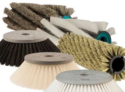 Floor scrubber and sweeper brushes