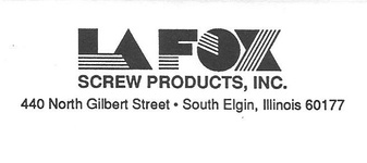 LaFox Screw Products, Inc.