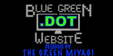 logo bluegreen dot website desig by the green miyagi mobile waterless detailing