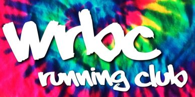 wrbc running club on tie dye