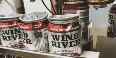 cans of wind river craft beer