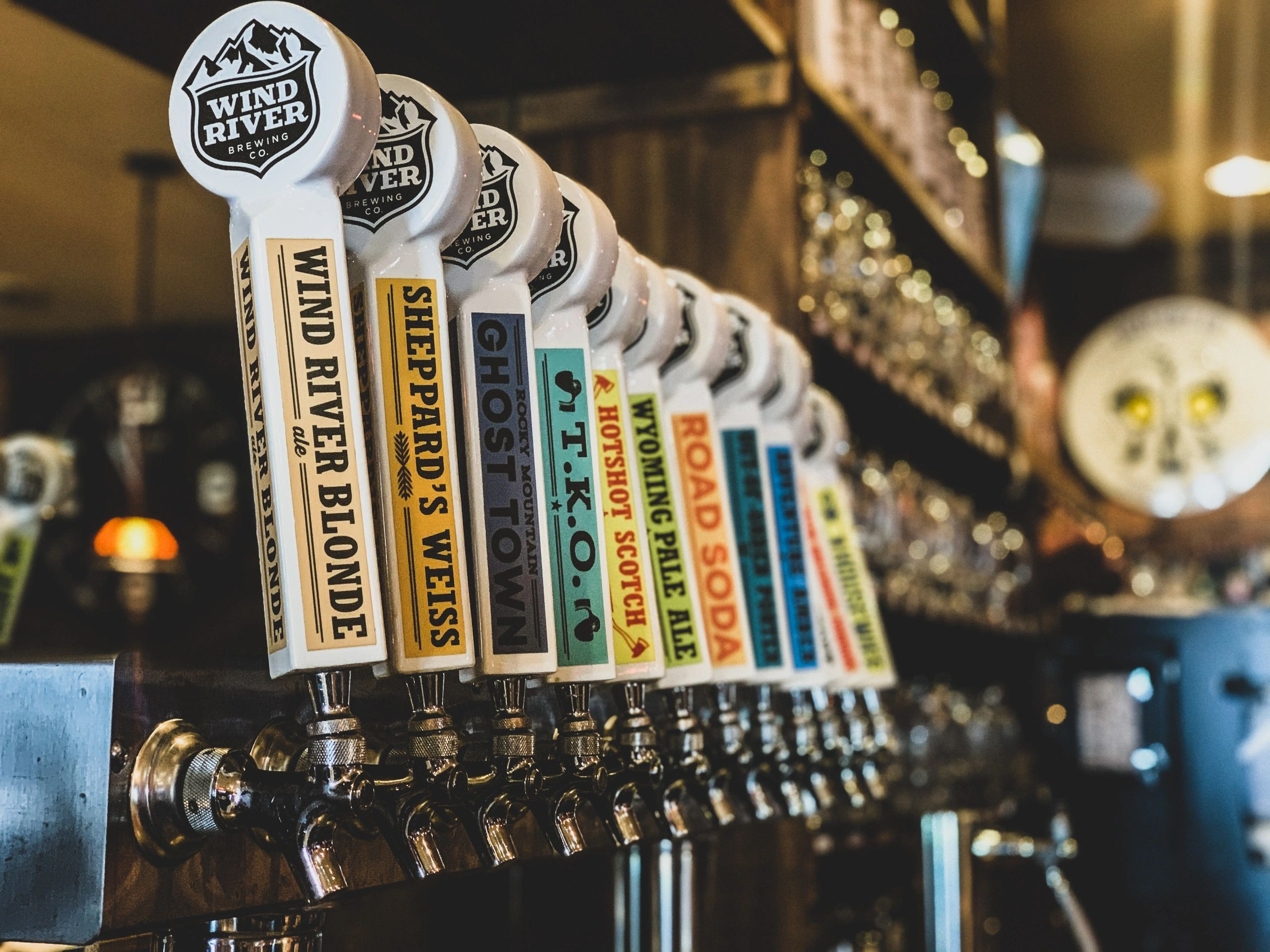 craft beer taps from wind river brewing company