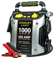 STANLEY Power Station Jump Starter 1000 Peak/500 Instant Amps, 120 PSI Air Compressor Battery Clamps