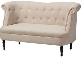 French Tufted Love Seat