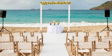 Beach Wedding Aisle Floor Runner