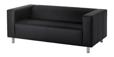 Contemporary Black Couch for rent
