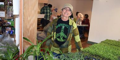 Terri Parisi and plants from Parisi Farms
