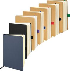 A5 Eco notebook made with Kraft paper cover, 100 sheets recycled 70gsm paper.
