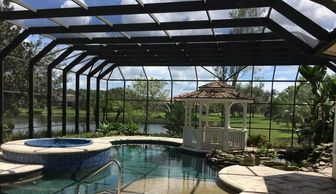Modern Pool Cage Painting always change all your pool screen screws