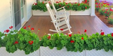 Planters on Wheel for Outdoor Restaurant Spaces