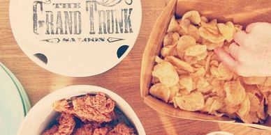 Bucket of fried chicken for $20 at Grand Trunk Saloon