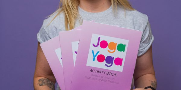 Mindful yoga colouring book by Jo Quinn