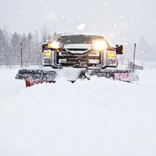 Snow Plowing, Snow Removal, scheduled snow removal service, commercial contract, residential service