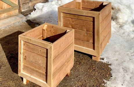 custom planter boxes or raised garden beds