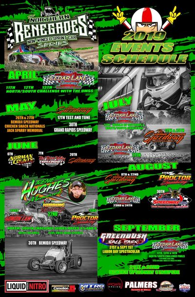 Poster Schedules to be out when they come in from the Printer! Get one for your Trailer or Race Shop