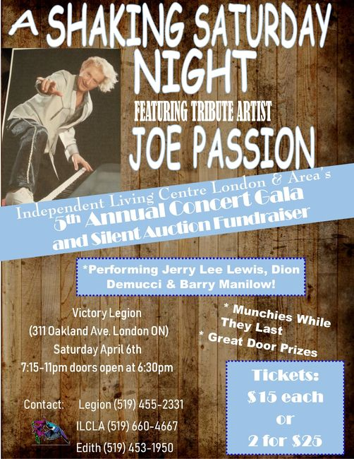 A Shaking Saturday Night. Featuring Tribute Artist - Joe Passion