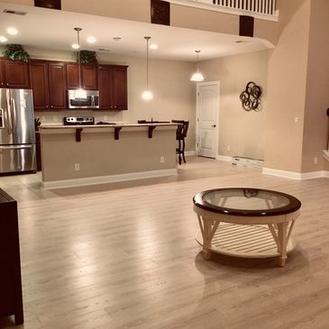 Luxury Vinyl Plank flooring installation