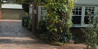 Old Red Brick Driveway