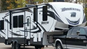 2016 Grand Design Momentum 350M Toy Hauler RV 5th Wheel Trailer 55449