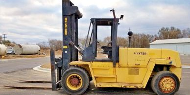 Hyster 36,000Lb. H360XL, 2-Stage Mast, Side Shift, Diesel, Pneumatic Tires 49548