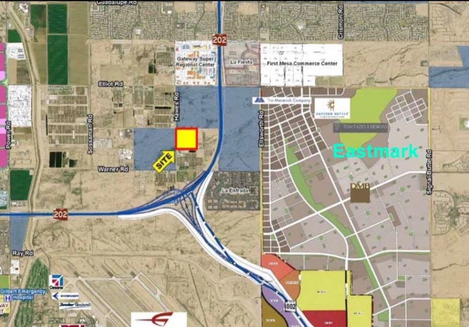 Map of a construction yard for rent in Mesa, AZ