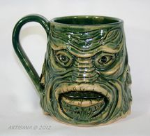 Handmade Pottery Face Stein Creature from the clay lagoon FSCS001986