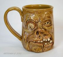 Handmade Pottery Face Stein Zombie FSCS002003
