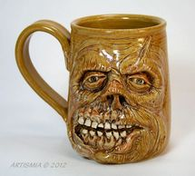 Handmade Pottery Face Stein Zombie FSCS002005