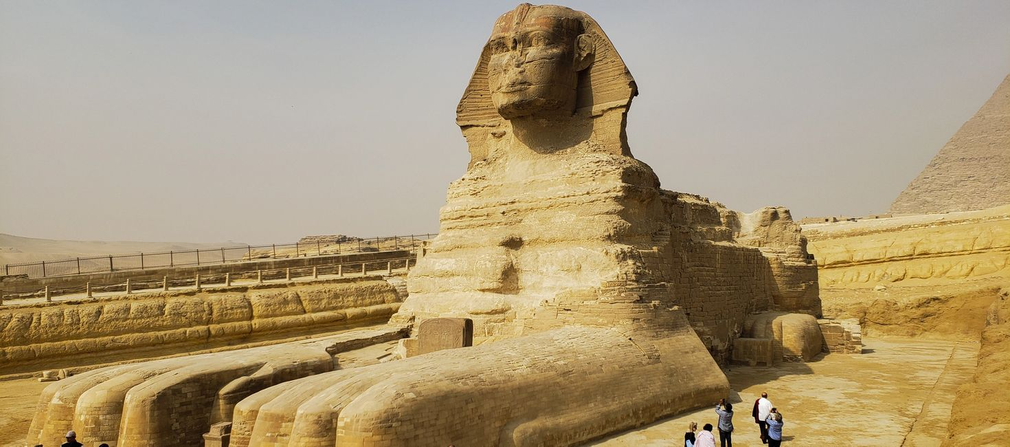 Our private custom-designed travel itineraries include viewing the Sphinx from between its paws