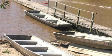 Boats for rent.  Public Boat Ramp