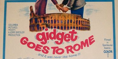 Gidget Goes To Rome vintage window card poster