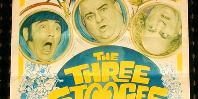 The Three Stooges Go Around The World In A Daze vintage insert poster