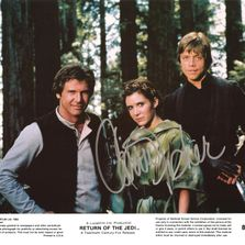 autograph carrie fisher star wars celebrity signed