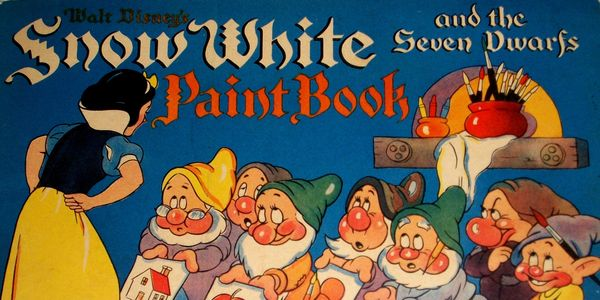 Snow White and the Seven Dwarfs Paint Book vintage