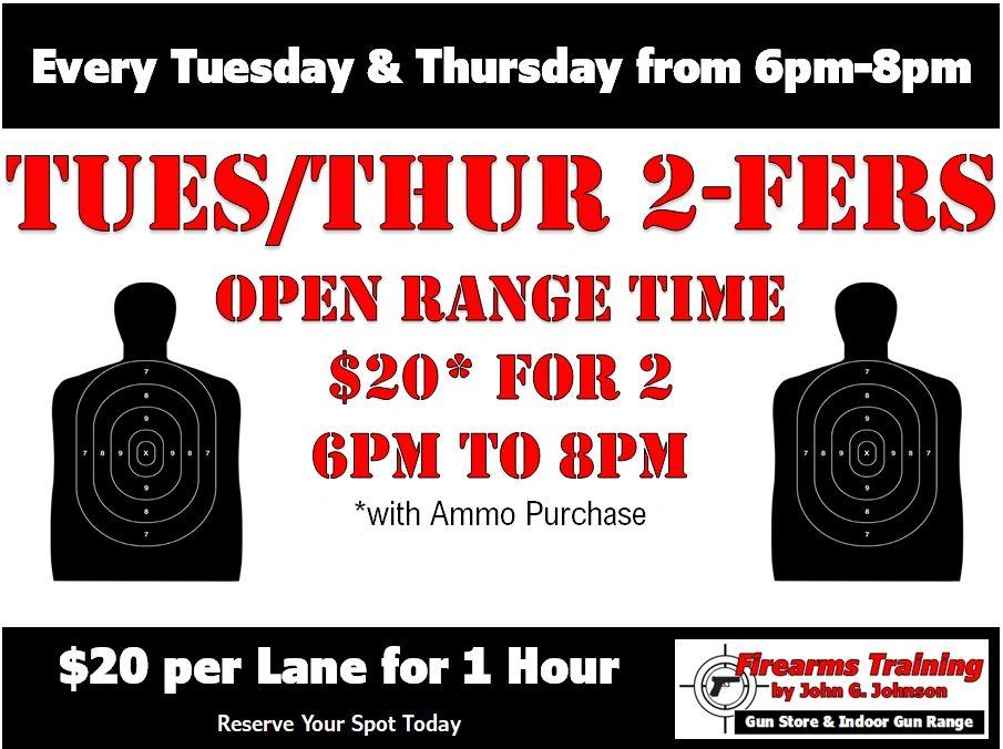 Tuesday Thursday 2 Fers