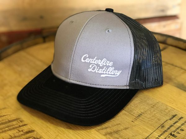 Grey Trucker Hat Centerfire Distillery World Class Whiskey