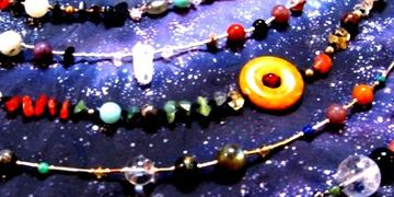 many versions of natal chart jewelry - beautiful gemstone birth chart jewelry designs