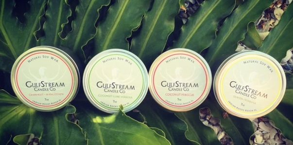 Soy Travel Tins in your favorite scents. Grapefruit, Coconut, Lemon and Rosemary Mint