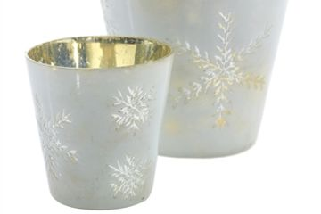 Holiday scented soy candles made in a beautiful holiday candle holder. Fraser fir scented soy candle