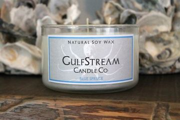 Blue Spruce scented soy candle. Infused with natural cedar wood and pine essential oils. Holiday