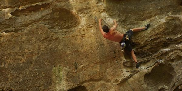 5.12a sport lead climbing in Red River Gorge, KY